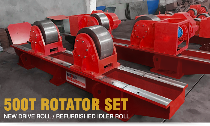 used welding rotator set 500 Tonnes